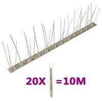 vidaXL putnu atbaidīšanas radzes, 5 rindas, 20 gab., 10 m, tērauds