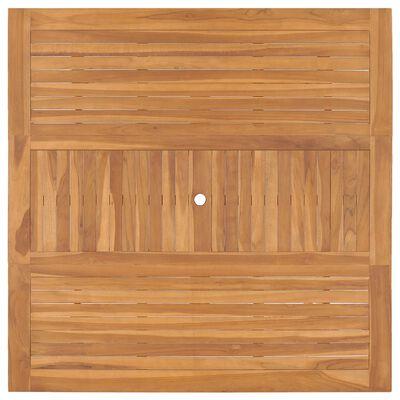 vidaXL dārza galds, 150x150x76 cm, masīvs tīkkoks
