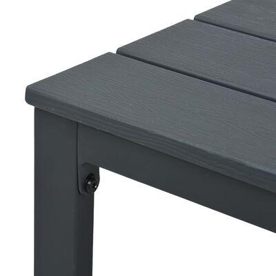 vidaXL kafijas galdiņš, 98x48x39 cm, pelēks HDPE, koka imitācija