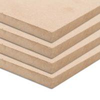 vidaXL MDF plāksnes, 4 gab., taisnstūra, 120x60 cm, 12 mm