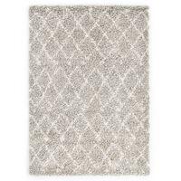 vidaXL paklājs Berber Shaggy, 160x230 cm, PP, bēša un smilšu krāsa
