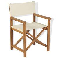 vidaXL saliekams režisora krēsls, masīvs tīkkoks