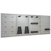 vidaXL perforēti sienas paneļi ar āķiem, 4 gab., 40x58 cm, tērauds
