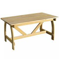 vidaXL dārza galds, 150x74x75 cm, impregnēts priedes koks