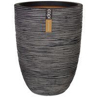 Capi vāze Nature Rib, cilindriska forma, 36x47 cm, pelēka, KOFZ782