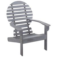 vidaXL Andirondaka krēsls, akācijas masīvkoks, pelēks