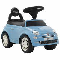 vidaXL bērnu rotaļu mašīna, Fiat 500, zila
