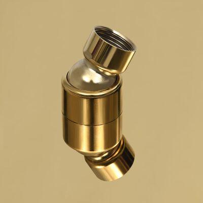 vidaXL lietus dušas galva, 30 cm, apaļa, tērauds, zelta krāsā
