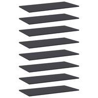 vidaXL plauktu dēļi, 8 gab., pelēki, 80x40x1,5 cm, skaidu plāksne