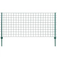 vidaXL Euro stiepļu žogs, tērauds, 20x0,8 m, zaļš