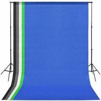 vidaXL fotostudijas komplekts ar 5 krāsainiem foniem un regulējamu rāmi