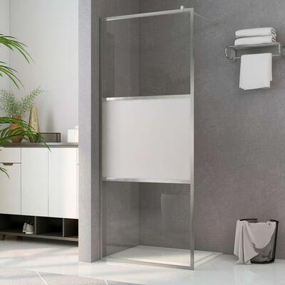 vidaXL dušas siena, daļēji matēts ESG stikls, 140x195 cm