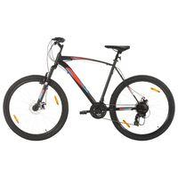 vidaXL kalnu velosipēds, 21 ātrums, 29'', 58 cm rāmis, melns