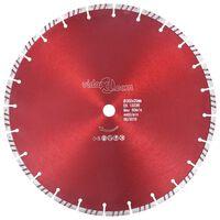 vidaXL dimanta griešanas disks, ar turbo, tērauds, 350 mm