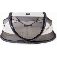 DERYAN bērnu ceļojumu gultiņa Baby Luxe, ar moskītu tīklu, krēmkrāsas