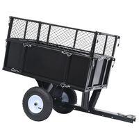 vidaXL piekabe zāliena traktoram, 150 kg slogojamība