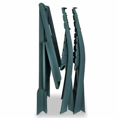 vidaXL 3-daļīgs bistro mēbeļu komplekts, saliekams, plastmasa, zaļš