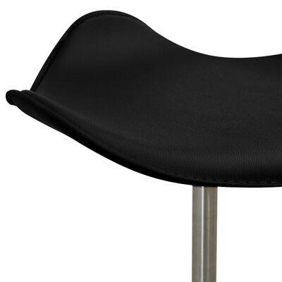 vidaXL salona krēsls, melna mākslīgā āda