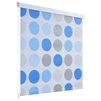 vidaXL rullo žalūzija dušai, 100x240 cm, apļu dizains