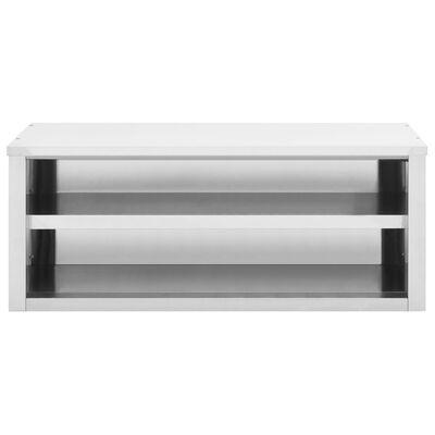 vidaXL virtuves sienas skapītis, 120x40x50 cm, nerūsējošs tērauds