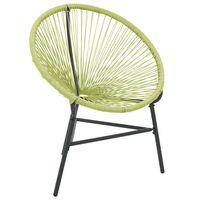 vidaXL dārza krēsls Acapulco, PE rotangpalma, zaļš