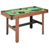 vidaXL biljarda galds, 4 kājas, 122x61x76 cm, brūns