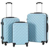 vidaXL cieto koferu komplekts, 3 gab., ABS, zils