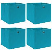 vidaXL uzglabāšanas kastes, 4 gab., 32x32x32 cm, zilgans audums