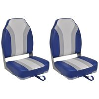 vidaXL laivas krēsli, 2 gab., salokāmi, ar augstu atzveltni