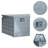 vidaXL alumīnija kaste, 737/381x410x460 mm, sudraba krāsā
