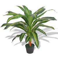 vidaXL mākslīgais augs, dracēna ar podiņu, 90 cm, zaļa