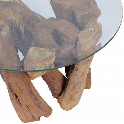 vidaXL kafijas galdiņš, 60 cm, tīkkoks