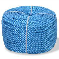 vidaXL vīta virve, polipropilēns, 14 mm, 100 m, zila