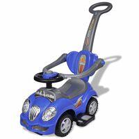 Zila, stumjama bērnu mašīna ar rokturi