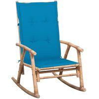 vidaXL šūpuļkrēsls ar matraci, bambuss