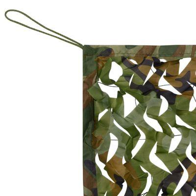 vidaXL kamuflāžas tīkls ar uzglabāšanas somu, 4x4 m