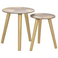 vidaXL sabīdāmi galdiņi, 2 gab., zelta krāsa, 40x45 cm/30x40 cm, MDF
