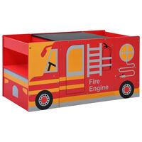 vidaXL 3-daļīgs bērnu galda un krēslu komplekts, ugunsdzēsēju mašīna