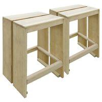 vidaXL dārza bāra krēsli, 2 gab., impregnēts priedes koks