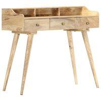 vidaXL sekretāra galds, 90x45x86 cm, mango masīvkoks