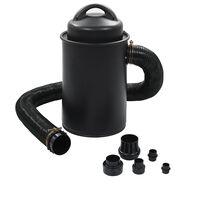 vidaXL putekļu savācējs ar adapteri, melns, 1100 W