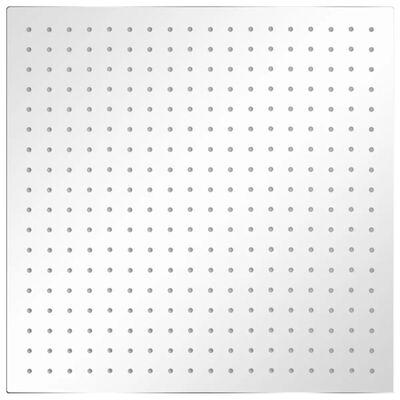 vidaXL lietus dušas galva, nerūsējošais tērauds, 50x50 cm, kvadrāta