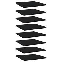 vidaXL plauktu dēļi, 8 gab., melni, 40x40x1,5 cm, skaidu plāksne