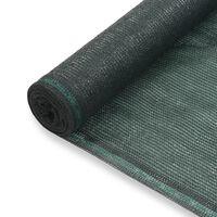 vidaXL tenisa laukuma tīkls, HDPE, 1,2x50 m, zaļš