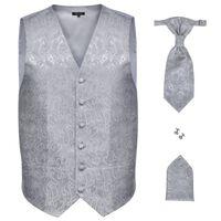 Vīriešu kāzu vestes komplekts, 56. izmērs, sudraba