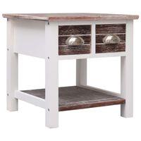 vidaXL galdiņš, brūns, 40x40x40 cm, paulonijas koks