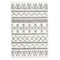vidaXL paklājs Berber Shaggy, 120x170 cm, PP, bēša un pelēka krāsa