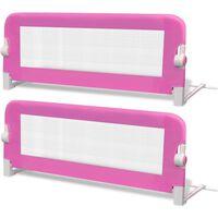 vidaXL bērnu gultas aizsargbarjeras, 2 gab., rozā, 102x42 cm