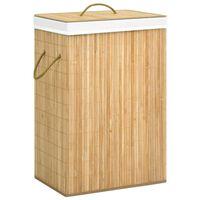 vidaXL veļas grozs, bambuss, 72 L