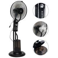 vidaXL ūdeni izsmidzinošs ventilators ar statīvu, 3 ātrumi, melns